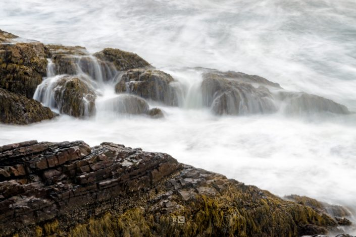 Shoreline waterfalls