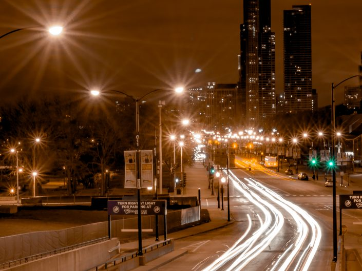 Street light trails