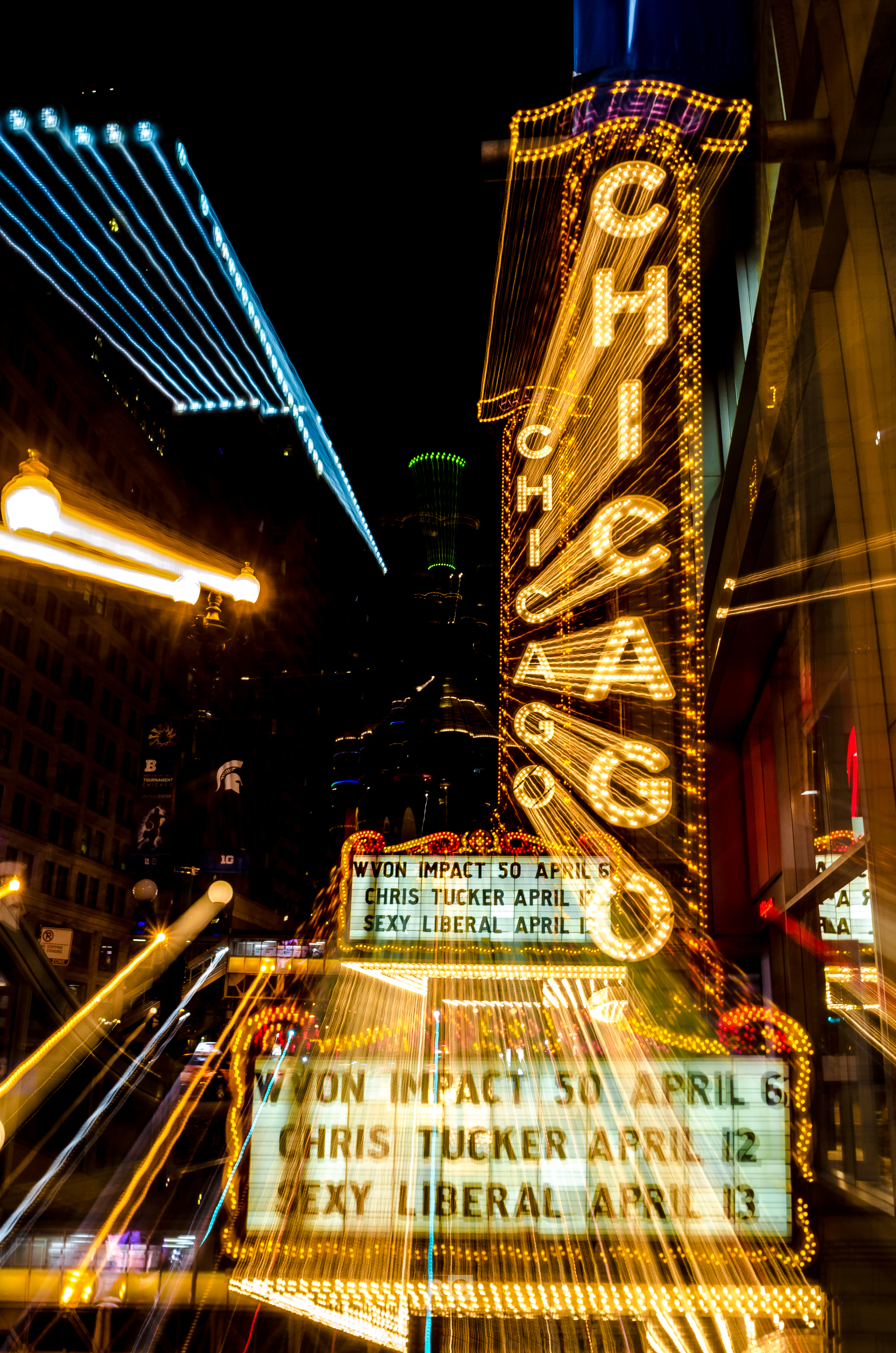 Fun with Chicago Theater Sign