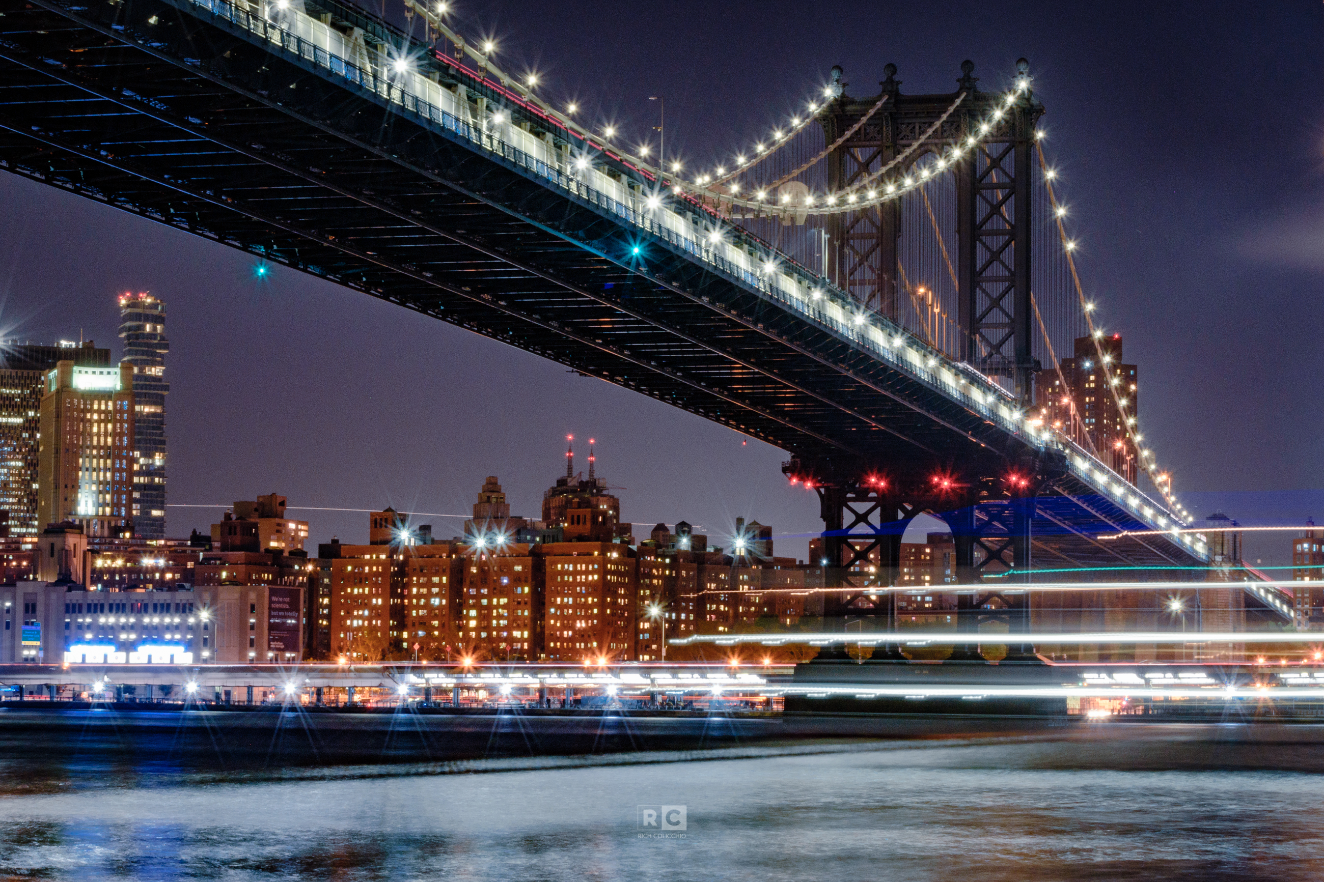 Light Trails under the Manhattan Bridge