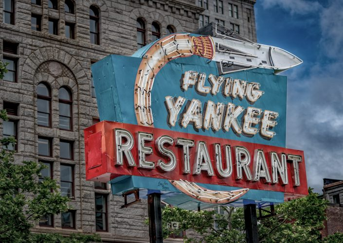 Flying Yankee Neon Sign HDR