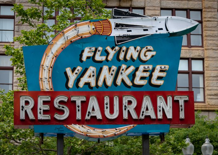 Flying Yankee Neon Sign on the Greenway